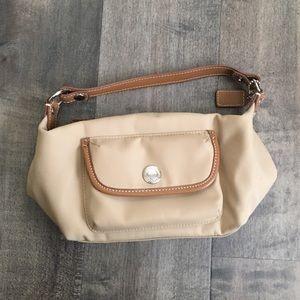 Coach mini nylon tote bag